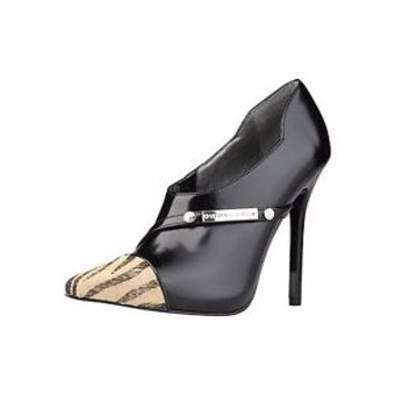 Genuine Leather Versace Jean shoes 20% to 50% off High Heels With Animaler Tip
