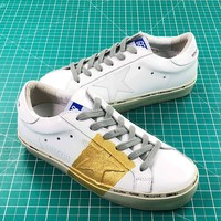 Ggdb Golden Goose Uomo Donna White Gold Sneakers Shoes - Best Online Sale