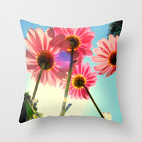 dancing in the sun Throw Pillow by RichCaspian   Society6