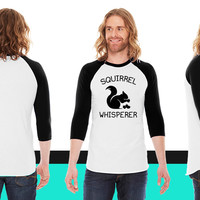 Squirrel Whisperer American Apparel Unisex 3/4 Sleeve T-Shirt