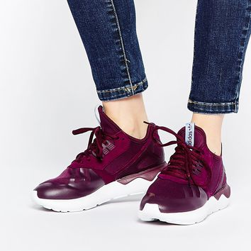 adidas Originals Tubular Runner Burgundy Trainers