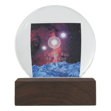 I Love You to Orion and Back Stars in Galaxy Space Snow Globes