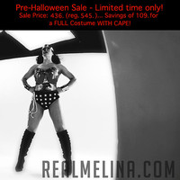 SALE...436.00... Pre-Halloween Sale! (reg. price will return to 545. in Oct.) ... Full Dark/Evil Wonder Woman Costume WITH CAPE Hurry...