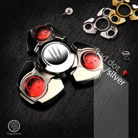 EDC Fabulous Stylish Metal Fidget Spinner with Steel R188 Bearing (Tri-spinner, Ultra Fast, Durable Spinning)