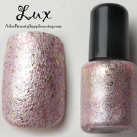 Lux Nail Polish 8 ml Vegan Non Toxic Glitter Polish