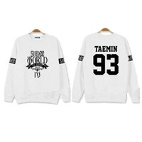 "KPOP SHINee World IV"" In Seoul Sweater Min Ho ONew Taemin Key Unisex Pullover ONew Sweatershirts"
