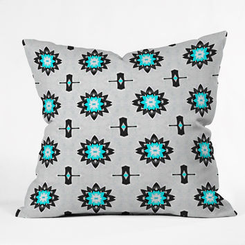 Elisabeth Fredriksson Wonderland Flowers Throw Pillow