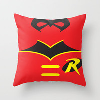 Robin the Boy Wonder Throw Pillow by Adrian Mentus