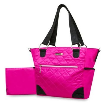 Wendy Bellissimo™ Quilted Diaper Tote in Fuchsia