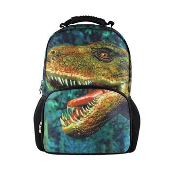 Cool Backpack school Customized Dinosaur Pattern School Bags for Teenagers Boys Cool Book Bag Kids School Backpack Mochila Escolar Printing Bagpack AT_52_3