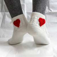Of White Slipper Socks, Lacing Slippers for Women, Christmas gift for her