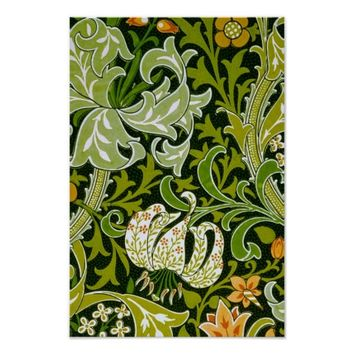 Vintage Lilies Garden Flowers Wallpaper