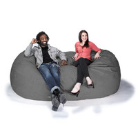Jaxx Sofa Saxx 7.5 ft Giant Foam Bean Bag Lounger, Microsuede