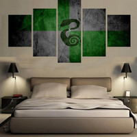 Slytherin Art Canvas Set