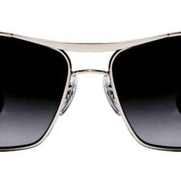 Kalete AUTHENTIC Ray-Ban Aviator Sunglasses RB3470L Silver & Black Gradient NEW IN BOX!