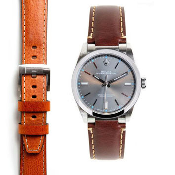 Everest Steel End Link Leather Strap System for the Rolex Oyster Perpetual 39mm