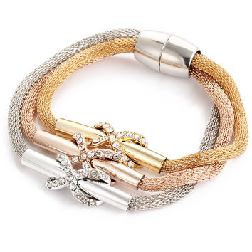 Shiny New Arrival Great Deal Hot Sale Awesome Gift Stylish Korean Crystal Magnet 3-color Accessory Bracelet [6368948932]