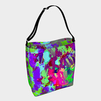 Psychedelic abstract Day Tote