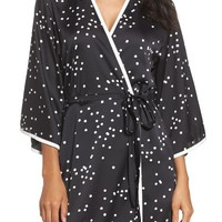 kate spade new york dot short robe | Nordstrom