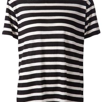 ICIKIN3 R13 horizontal stripe T-shirt