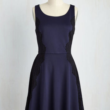 Classically Captivating Dress in Navy
