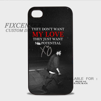 XO THE WEEKND My Love - iPhone 4/4S Case