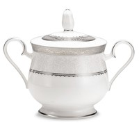 Noritake Dinnerware, Odessa Platinum Sugar Bowl with Lid