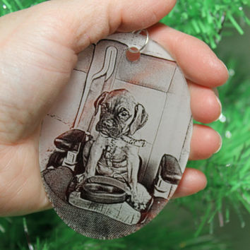 Photo Personalized Ornament Laser Engraved Acrylic 2 Person Photo