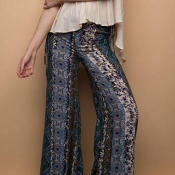 Bell Blossom Printed Pants - FINAL SALE