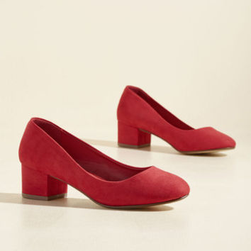 Afternoon Meeting Magic Block Heel | Mod Retro Vintage Heels | ModCloth.com