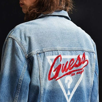 GUESS 1981 Oversized Denim Trucker Jacket | Urban Outfitters