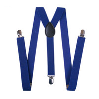 Royal Blue Adjustable Unisex Removable Suspenders for Pants