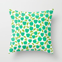 Retro Delicious Throw Pillow by Lisa Argyropoulos