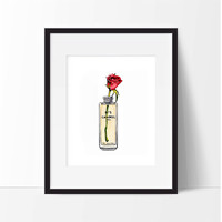 Chanel No 5 with Rose Art Print