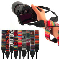 Vintage Durable Fashion Neck & Shoulder DSLR Camera Straps (9 Different)  * Compatible with Canon, Nikon, Sony, and Pentax cameras