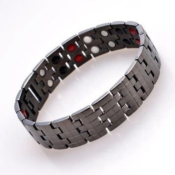 Awesome Hot Sale Stylish Gift Great Deal New Arrival Shiny Stainless Steel Accessory Men Titanium Ring Bracelet [11337091591]