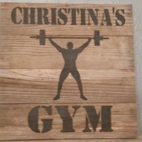 Barnwood custom personalized sign for gym wall decor sign rustic pallet hanging crossfit gym decor motivational exercise weight lifting