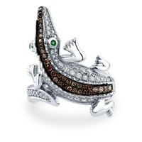 Sterling Silver Cubic Zirconia CZ Alligator Ring 0.75 ct.tw2 Review(s) | Write A ReviewSKU# R942-01