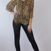 Liquid Leather Stylish Fitted/Skinny Pant