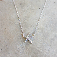 Sparkling Starfish Necklace [6910] - $12.00 : Feminine, Bohemian, & Vintage Inspired Clothing at Affordable Prices, deloom