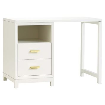Rowan 2-Drawer Single Pedestal Desk