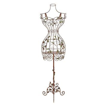 Benzara Dress Form Metal Mannequin Display Stand, Brown