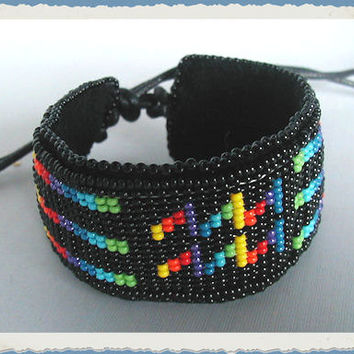 Sign of the Zodiac Flexible Bead Loomed Cuff Bracelets