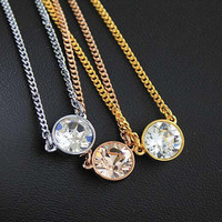 Stylish New Arrival Gift Shiny Jewelry Crystal Accessory Necklace [10375426132]