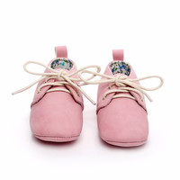 Newborn Baby PU Leather Infant Toddler Kids Boys Girls First Walkers Soft Soled Shoes 0-2 Years