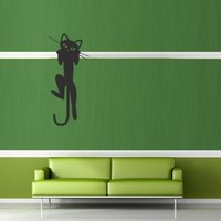 Wall Decal Decor Decals Art Sticker Cat Animal Paw Mustache Wool Funny Cartoon Cheerful (M388)