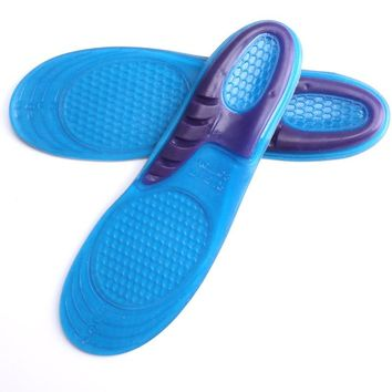 Silicone Gel Insoles Man Woman Insoles orthopedic Massaging Shoe Insoles Shock Absorption Non-slip Shoe Pad