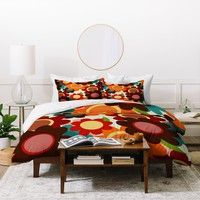 Sharon Turner Autumn Flowers Duvet Cover