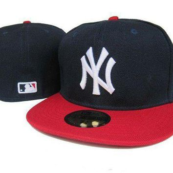 New York Yankees New Era Mlb Authentic Collection 59fifty Hat Black Red