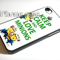 Despicable Me Keep Calm Love Minions R15 iPhone Case And Samsung Galaxy Case
